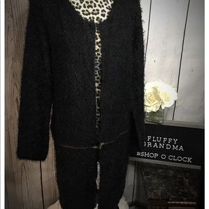 Cupio Black Cardigan Large